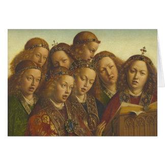 Jan van Eyck Singing angels Ghent CC0835 Card