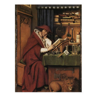 Jan van Eyck- St. Jerome in his Study Postcard