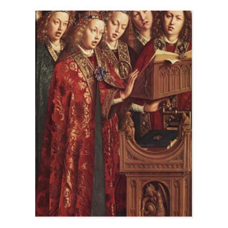 Jan van Eyck- The Ghent Altar (detail) Postcard