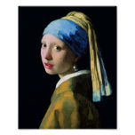 Jan Vermeer Girl With A Pearl Earring Baroque Art Poster