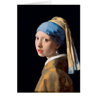 Jan Vermeer - Girl With a Pearl Earring Greeting Card