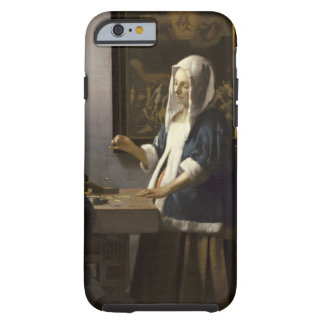 Jan Vermeer Woman Holding A Balance Vintage Art Tough iPhone 6 Case