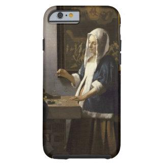 Jan Vermeer Woman Holding A Balance Vintage Art Tough iPhone 6 Case