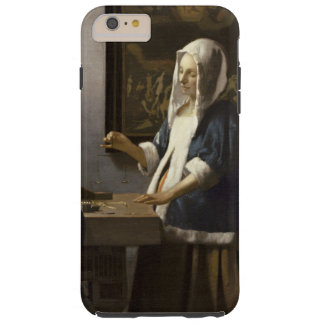 Jan Vermeer Woman Holding A Balance Vintage Art Tough iPhone 6 Plus Case