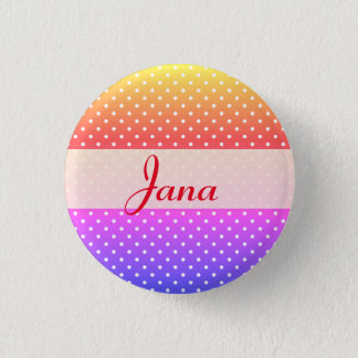 Jana name plate Anstecker 1 Inch Round Button