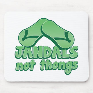 JANDALS not thongs Kiwi Aussie funny design Mouse Pad