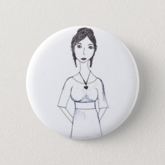 Jane Austen 2 Inch Round Button