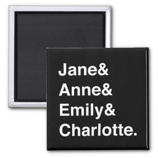Jane Austen and the Brontes magnet