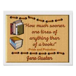Jane Austen book quote - Poster