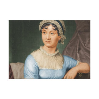 Jane Austen Color Portrait Fine Art Canvas