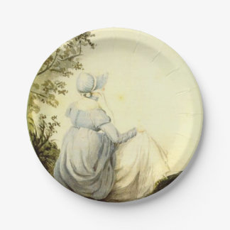 Jane Austen Custom Party Plates 7 Inch Paper Plate