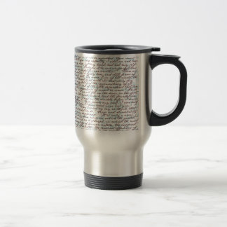 Jane Austen Damask Travel Mug