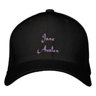 Jane austen embroidered baseball cap