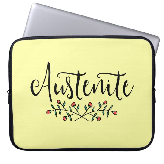 Jane Austen Floral Austenite Laptop Sleeve