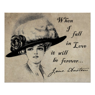 Jane Austen Forever Print