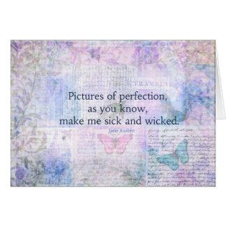 Jane Austen humorous, witty quote Card