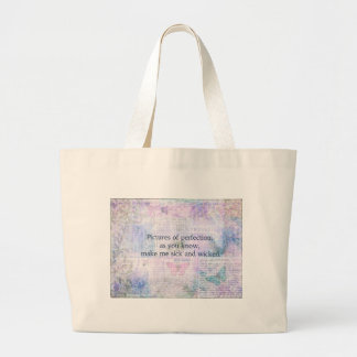 Jane Austen humorous, witty quote Large Tote Bag