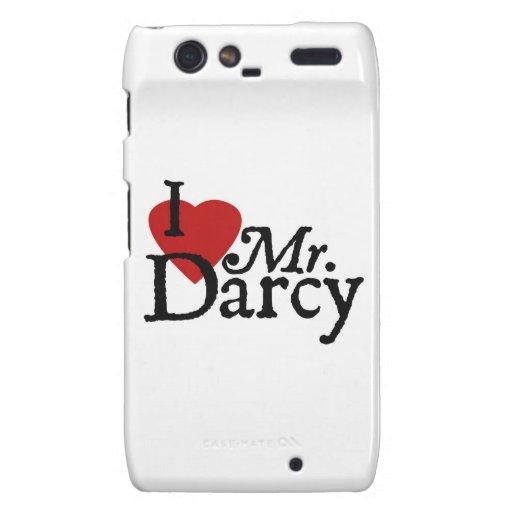 Jane Austen I LOVE Mr. Darcy Motorola Droid RAZR Case