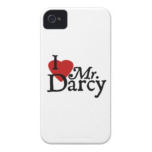 Jane Austen I LOVE Mr. Darcy iPhone 4 Cases