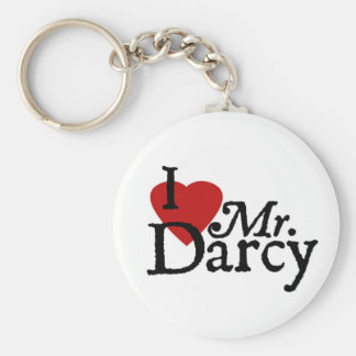 Jane Austen I LOVE Mr. Darcy Key Chain