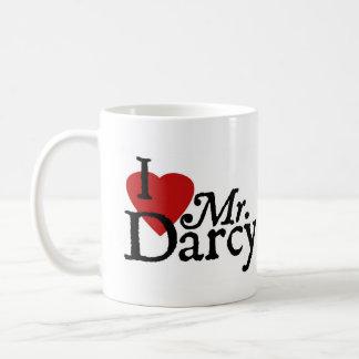 Jane Austen I LOVE Mr. Darcy Coffee Mugs