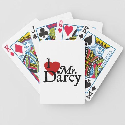 Jane Austen I LOVE Mr. Darcy Poker Deck