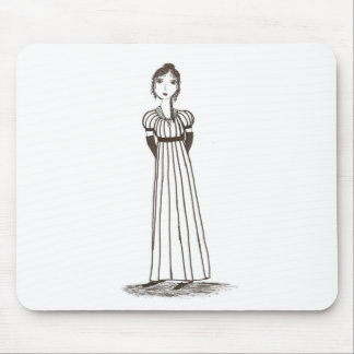 Jane Austen Inspired striped Dress Mouse Pad