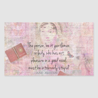 Jane Austen  Intolerably Stupid quote humour Sticker