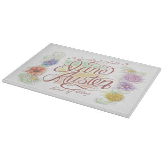 Jane Austen Kind of Day Glass Cutting Board