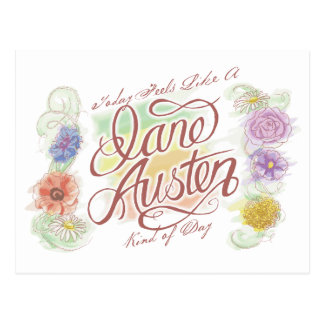 Jane Austen Kind of Day Postcard