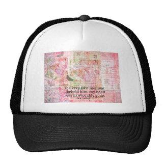 Jane Austen Love Romance quote text ART Trucker Hat