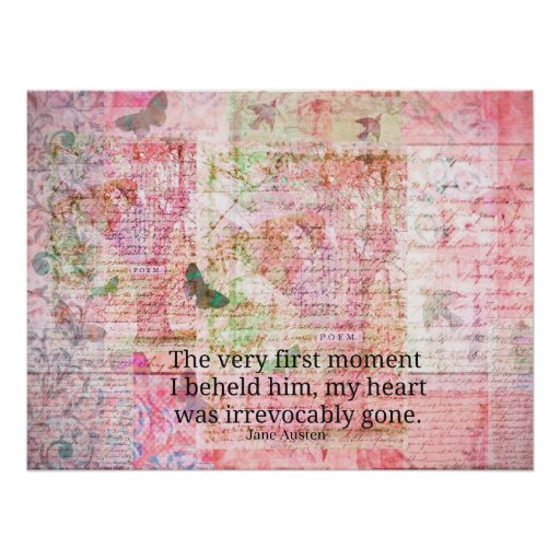 Jane Austen Love Romance quote text ART Poster