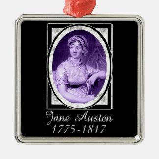 Jane Austen Metal Ornament