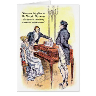 Jane Austen Mr Darcy Pride and Prejudice Courage Card