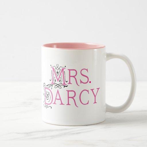 Jane Austen Mrs Darcy Gift Mugs