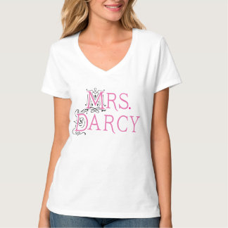 Jane Austen Mrs Darcy Ladies T-shirt Gift