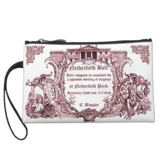 Jane Austen Netherfield Ball Invite Letter Wristlet Clutch