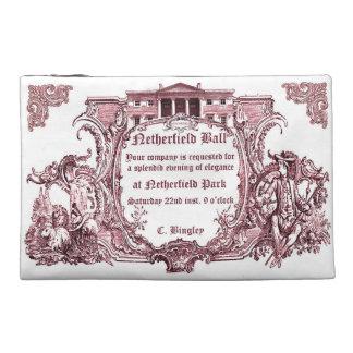 Jane Austen Netherfield Ball Invite Letter Travel Accessory Bags