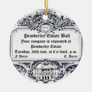 Jane Austen: Pemberley Estate Ball Ceramic Ornament
