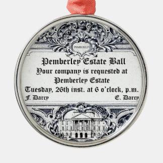 Jane Austen: Pemberley Estate Ball Metal Ornament