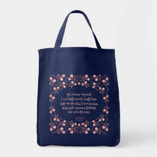 Jane Austen Persuasion Floral Love Letter Quote Tote Bag
