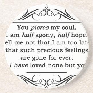 Jane Austen Persuasion Quote Coaster