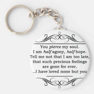 Jane Austen Persuasion Quote Keychains