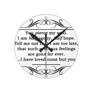 Jane Austen Persuasion Quote Round Clock