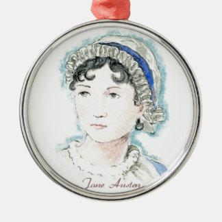 Jane Austen Portrait by Alice Flynn Metal Ornament