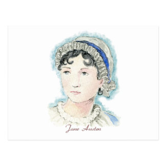 Jane Austen Portrait by Alice Flynn Postcard