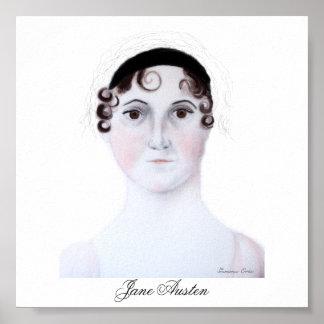 Jane Austen Portrait. Poster