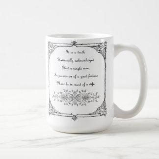 Jane Austen Pride and Prejudice Inspiration Coffee Mug