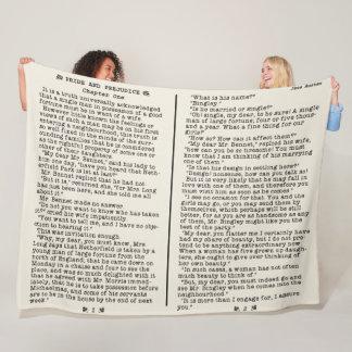 Jane Austen Pride and Prejudice Literature Quote B Fleece Blanket