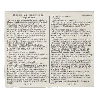 Jane Austen Pride and Prejudice Literature Quote Duvet Cover